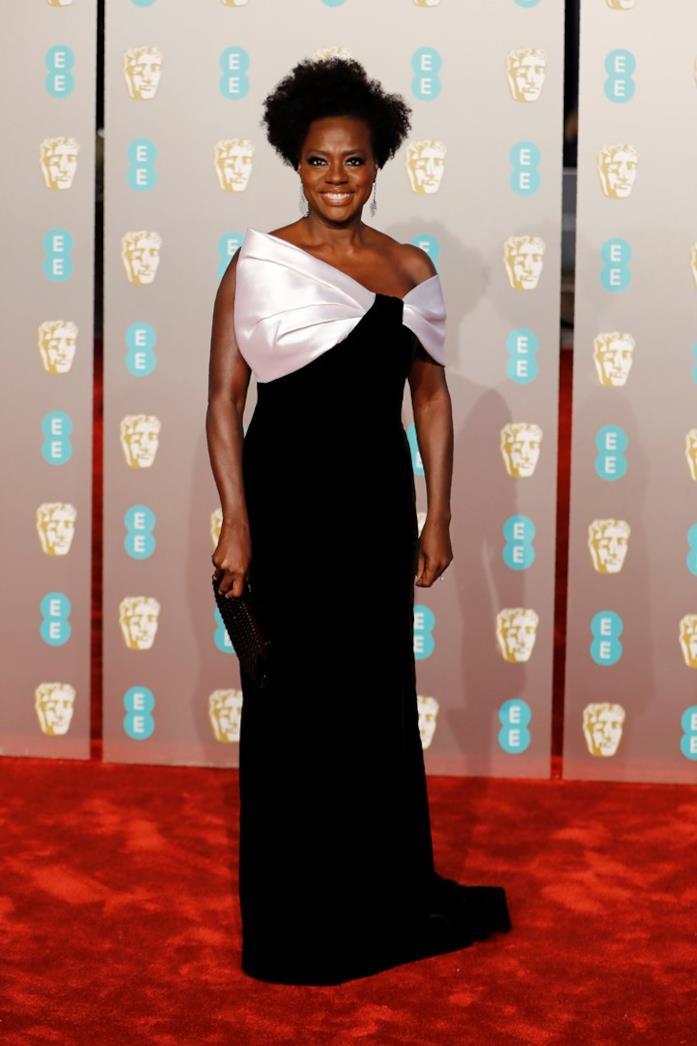 Viola Davis sul red carpet dei BAFTA