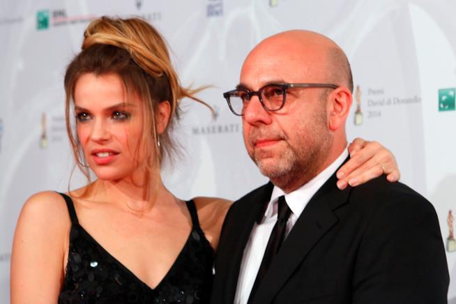 Una vecchia foto di Micaela Ramazzotti e Paolo Virzì