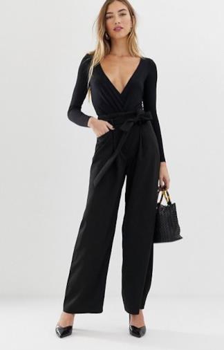 Pantaloni con fondo ampio neri