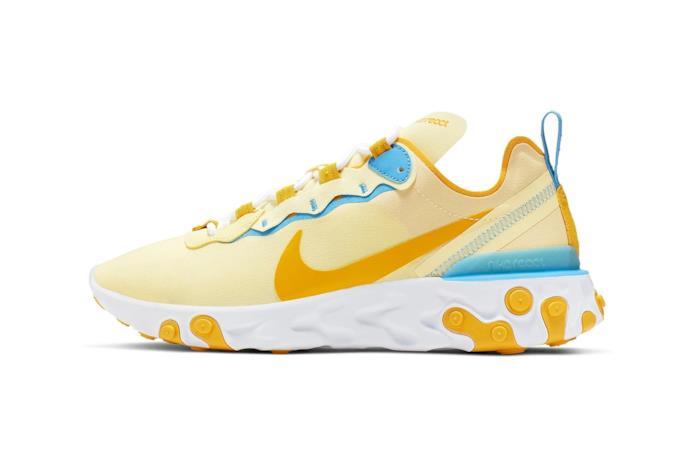 nuova Nike React Element 55 giallo pastello
