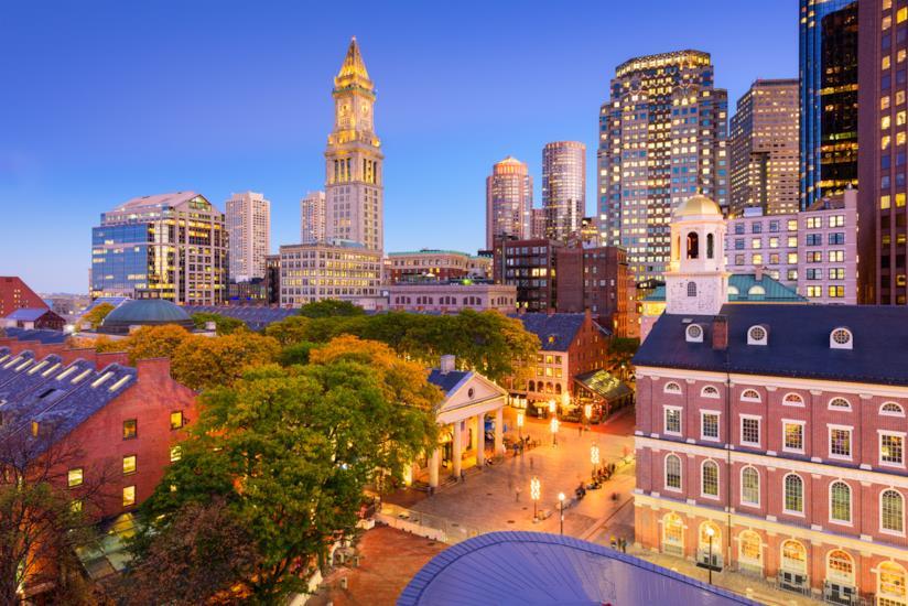 Il complesso della Fanueil Hall, il celebre mercato di Boston