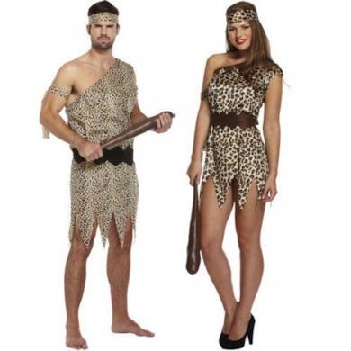 Uomo & Donna delle caverne In abbinato - Coppia Costume