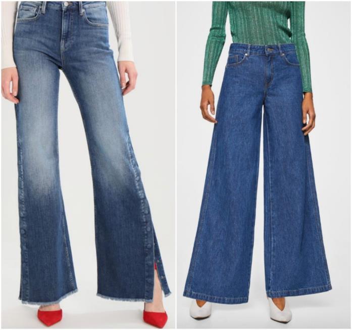 Jeans a zampa, collage