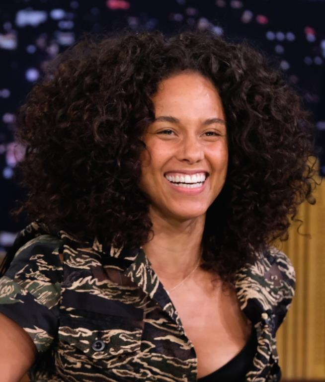 Alicia Keys in primo piano