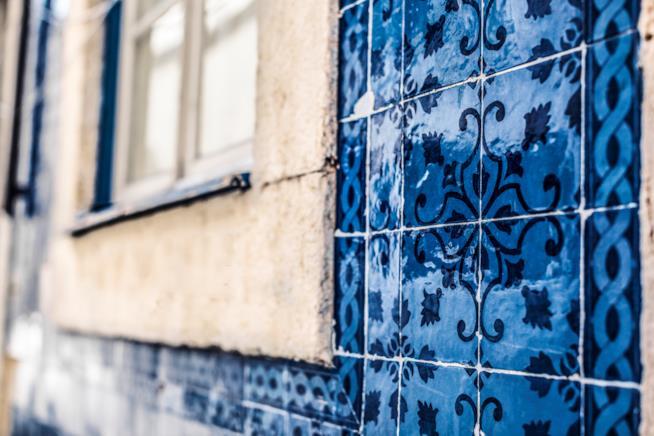 Immagine di tradizionali marocchine in cemento o piastrelle in