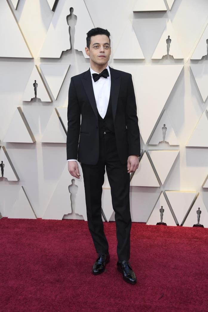 Rami Malek sul red carpet degli Oscar 2019