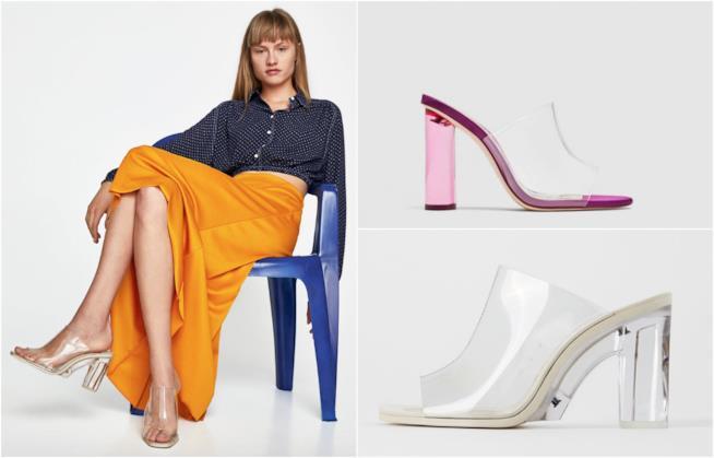 Due modelli di sabato PVC di Zara