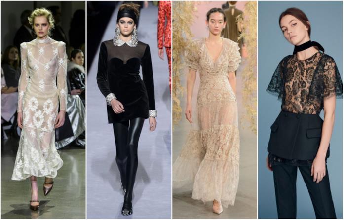Quattro capi in passerella con trasparenze alla New York Fashion Week