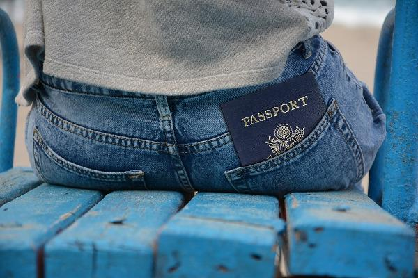 Passaporto in un paio di jeans