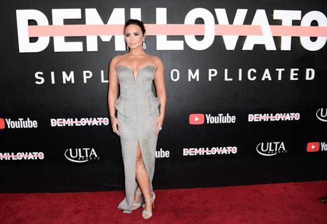 Demi Lovato alla presentazione di Simply Complicated