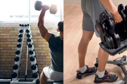 Manubri da palestra per allenarsi