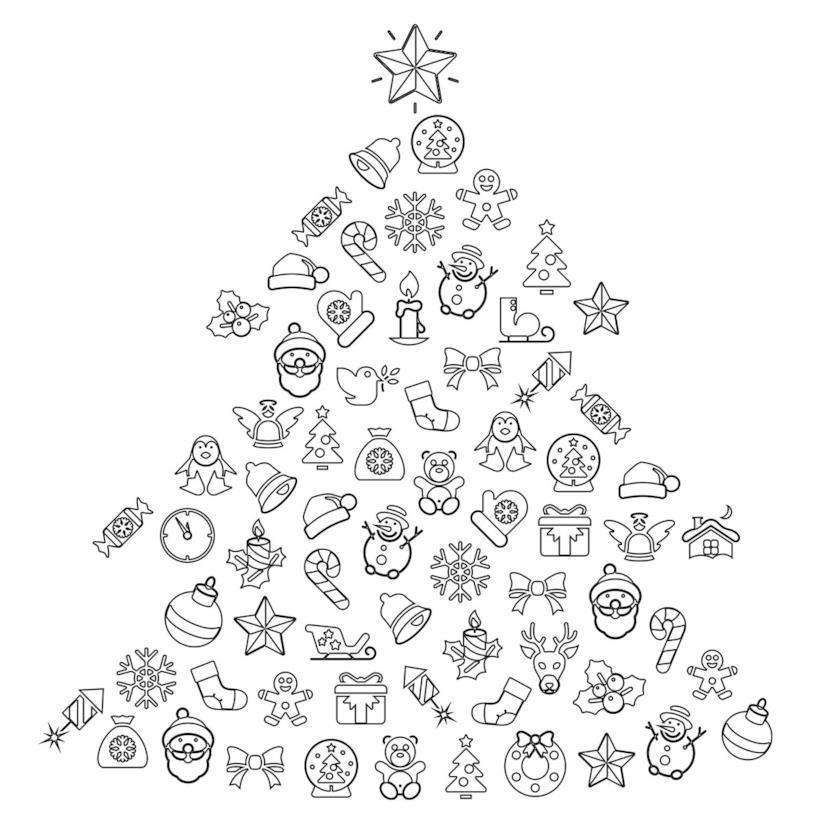 Disegni Alberelli Di Natale.Albero Di Natale Disegni Da Scaricare Stampare E Colorare