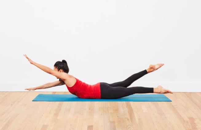 Swimming: esercizio di pilates
