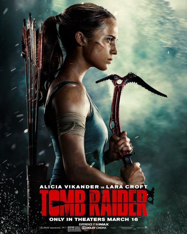 Alicia Vikander è Lara Croft nel poster di Tomb Raider