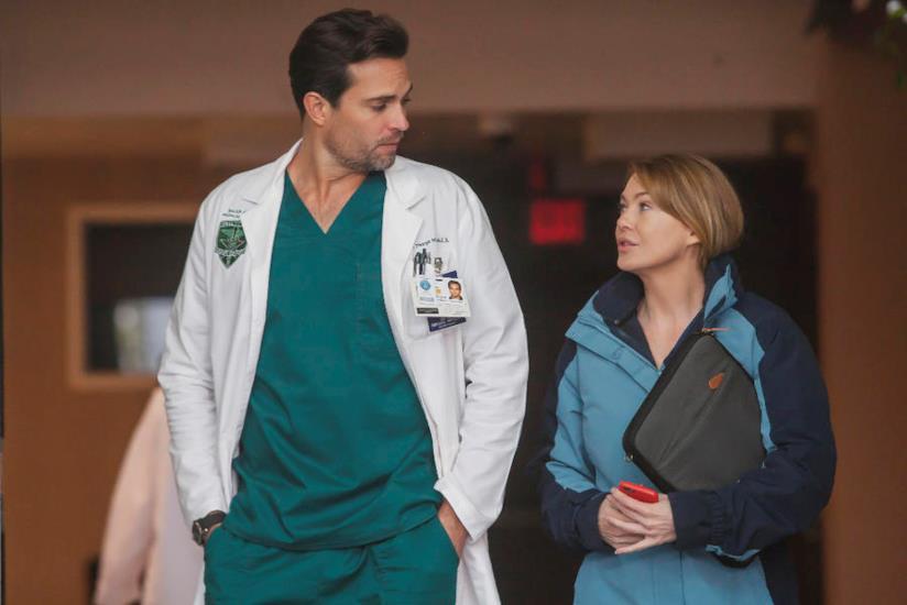 Meredith Grey in una scena con Will Thorpe