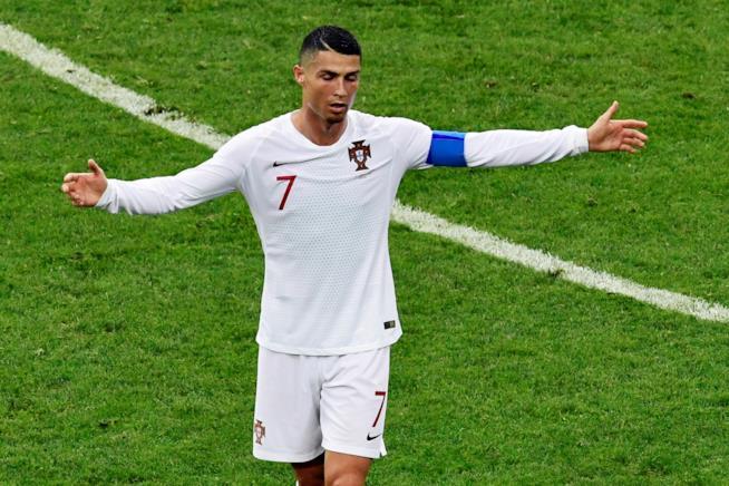 Cristiano Ronaldo durante una partita di calcio