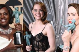 Viola Davis, Emma Stone e Sarah Paulson ai SAG Awards 2017