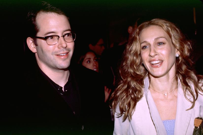 Matthew Broderick e Sarah Jessica Parker in una vecchia foto
