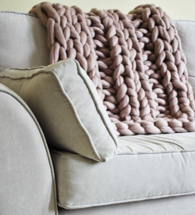 Coperta maglia gigante in Lana Blush Merino
