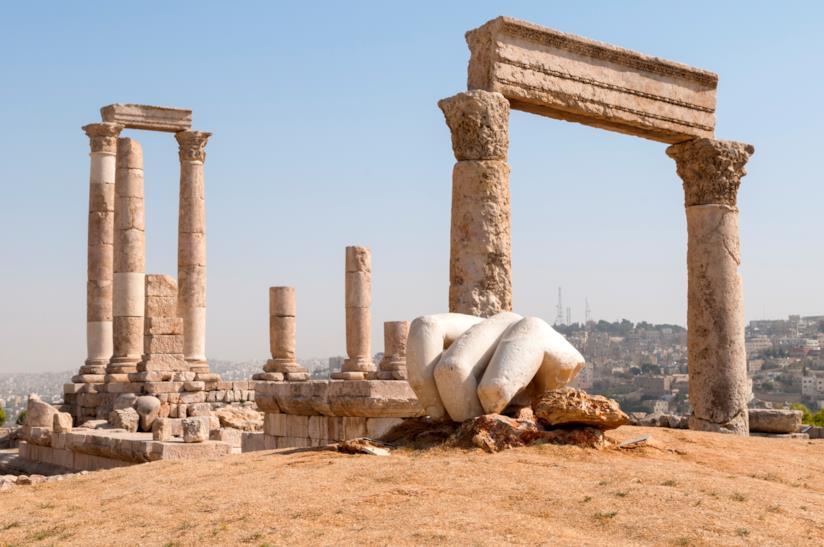 Il Tempio di Ercole nella Cittadella di Amman