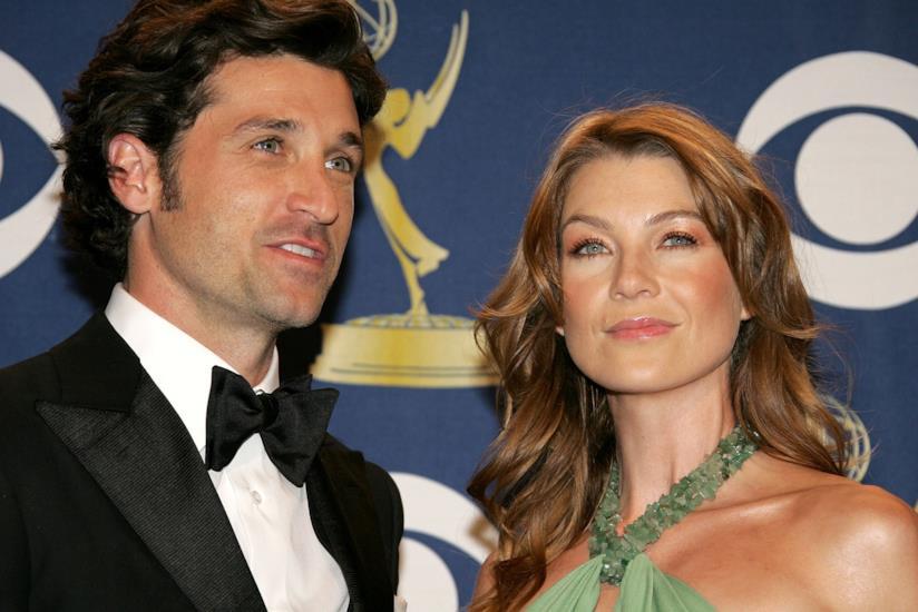 Ellen e Patrick posano per il carpet degli Emmy