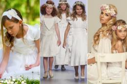 Collage bambine Prima comunione
