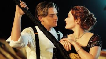 Una immagine tratta dal film Titanic con Leonardo DiCaprio e Kate Winslet