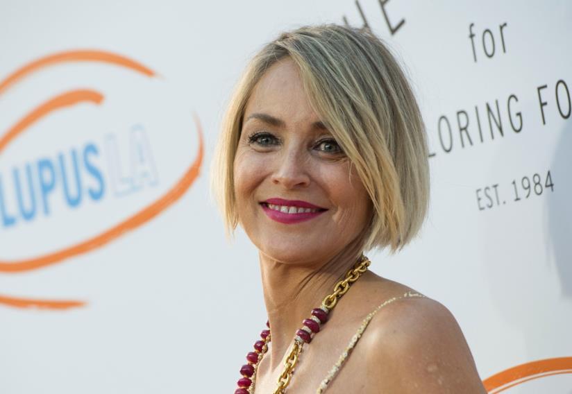 Sharon Stone durante un evento