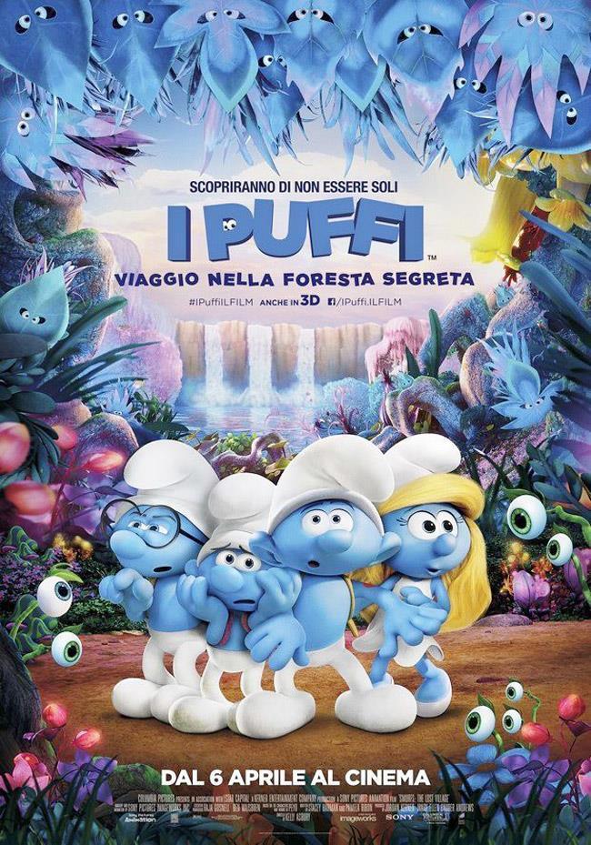 Locandina del film dei Puffi