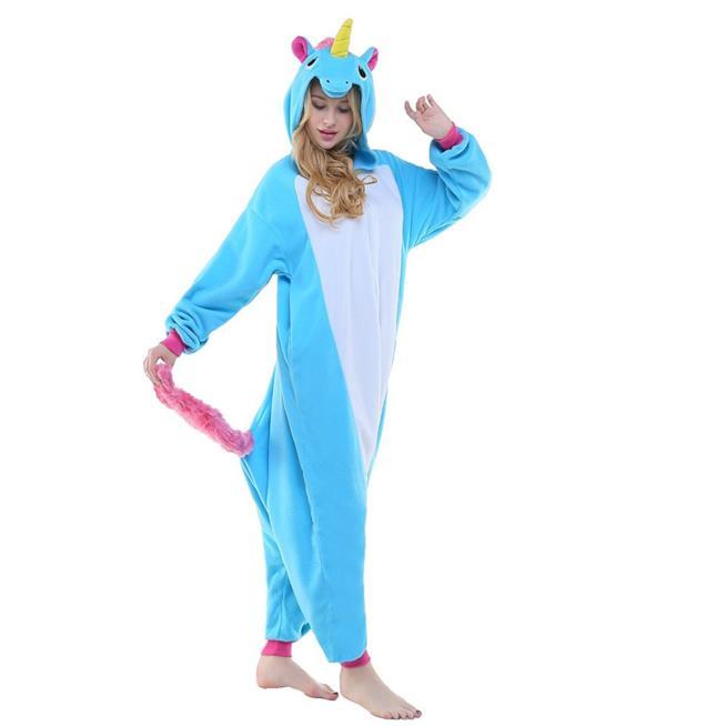 Pigiama unicorno blu
