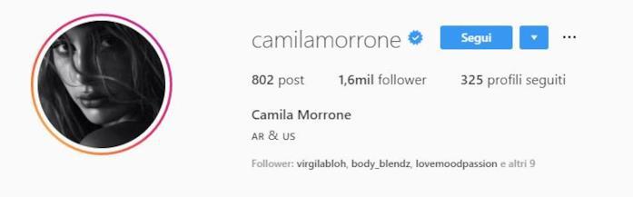 Profilo instagram Camila Morrone