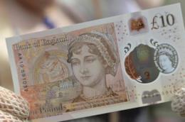 La banconota da 10 sterline dedicata a Jane Austen