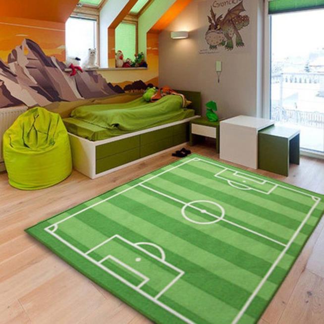 Tappeto per Bambini con campo di calcio