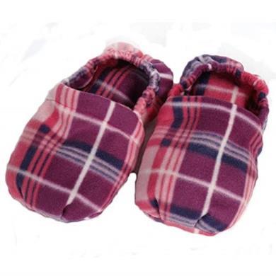 Pantofole riscaldanti con noccioli di ciliegia