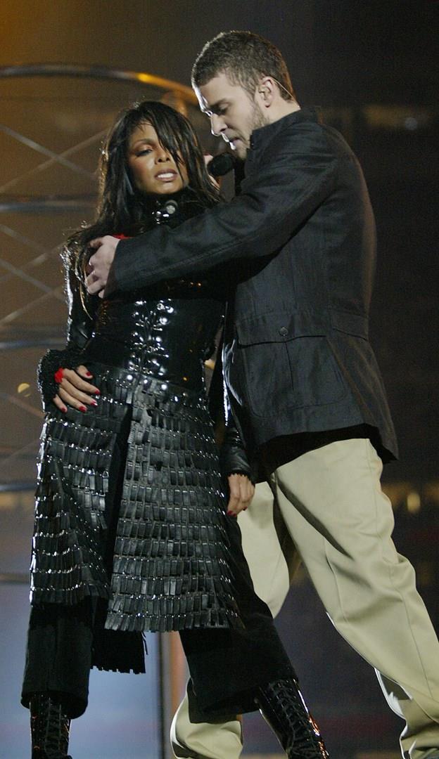 Justin Timberlake e Janet Jackson al Super Bowl 2004