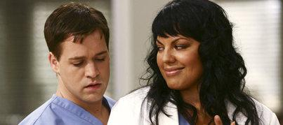 George e Callie in una scena della terza stagione di Grey's Anatomy
