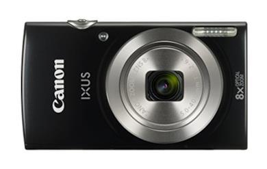 """Canon IXUS 185 Fotocamera Digitale Compatta, 20 MP, 1/2.3"""", CCD, 5152 x 3864 Pixel, Nero"""