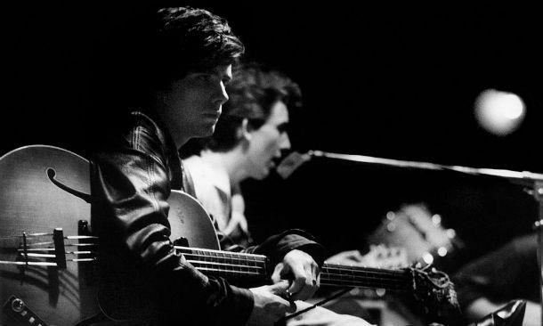 Uno scatto live dalla mostra Astrid Kirchherr With The Beatles