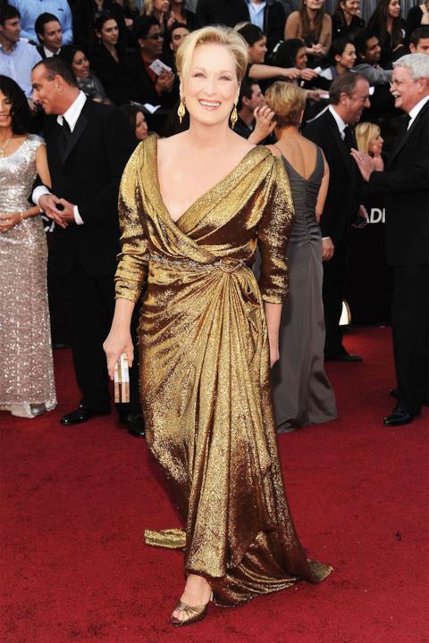 Meryl Streep sul red carpet degli Oscar