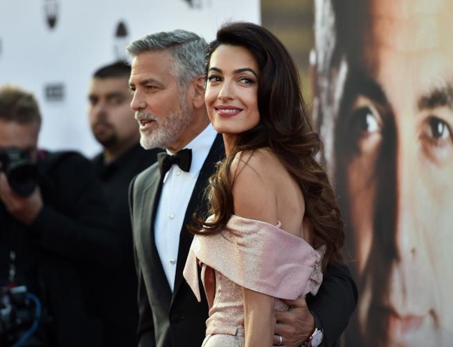 George Clooney e la moglie Amal Alamuddin Clooney