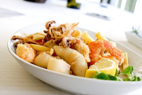 fritto di gamberi e calamari