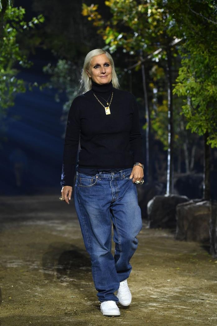 Maria Grazia Chiuri alla sfilata Dior