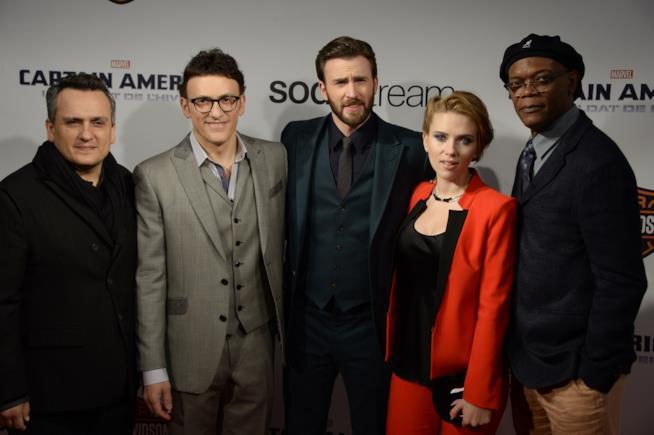 I fratelli Russo insieme cast di Captain America Civil War