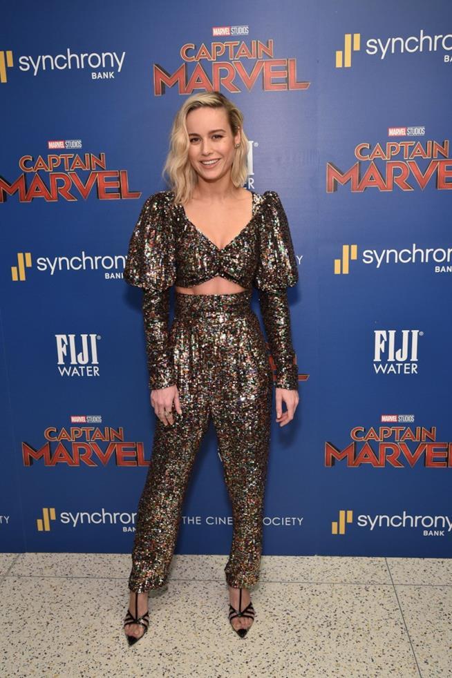 Brie Larson alla première Marvel