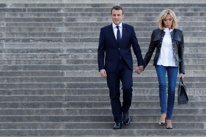 Brigitte Marie-Claude Trogneux e il Presidente Emmanuel Macron
