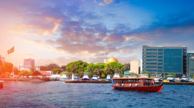 Dettaglio della capitale della Maldive, la bella Male