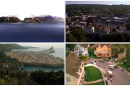 L'isola, Rosewood, Approdo del Re e Wisteria Lane