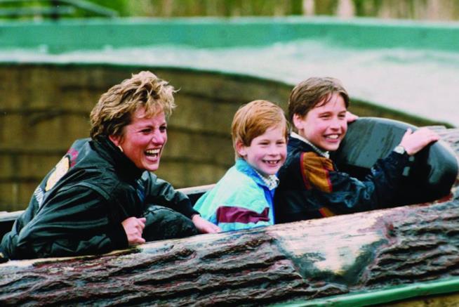 Lady Diana con i figli