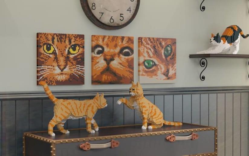 Gatti fatti di mattoncini