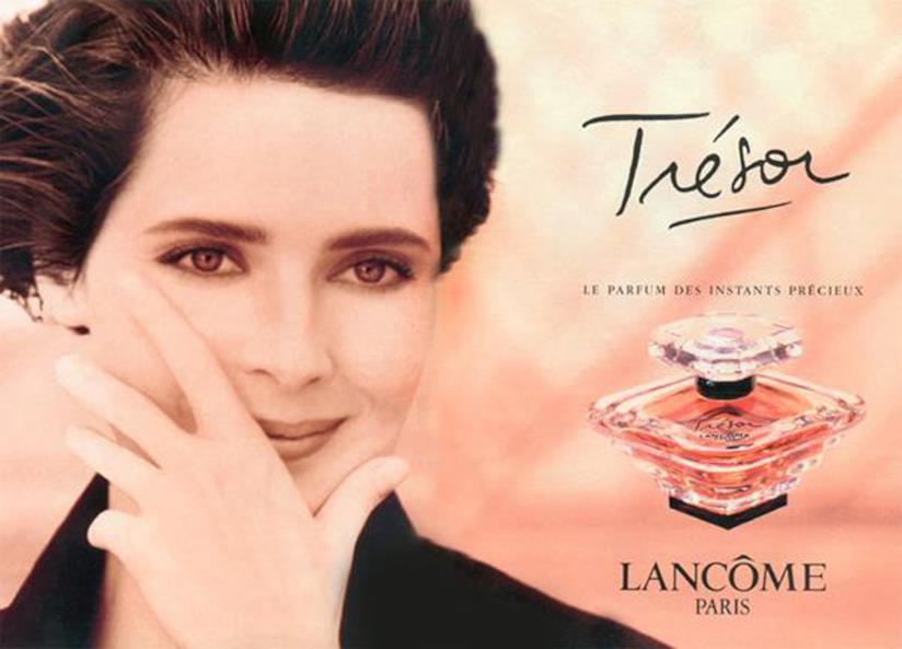 Isabella Rossellini nella campagna di Lancôme Trésor negli anni '90